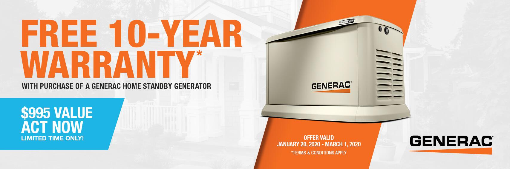 Homestandby Generator Deal | Warranty Offer | Generac Dealer | Contoocook, NH